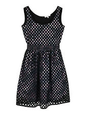 NEW Carven net style sleeveless dress with floral print lining
