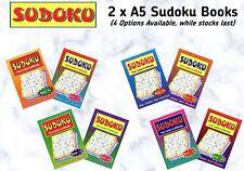 2 x A5 Sudoku Books (4 Options Available)