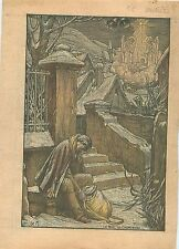 Noël du Chemineau Vagabond SDF homeless sans abri village de France 1933