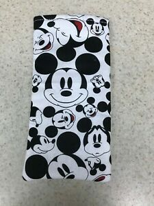 Sunglass / Eyeglass Soft Fabric Case - Mickey Mouse - Black & White - Classic