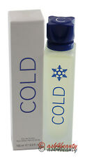Cold By Benetton 3.4oz/100ml Edt Spray For Men New In Box
