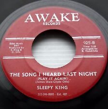SLEEPY KING Song I Heard Last Night / High Heels R&B 45 1950's Awake w1776