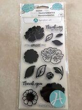 Hampton Art Clear Acrylic Stamp Set Amaze Layering Flower SC0747 NEW