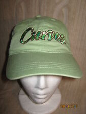 Curves Fitness Exercise CAP 100% Cotton (NEW) GREEN Coral ADULT Size