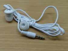 White/Silver Earbuds in-ear headphones for MP3  music, ipod, 3.5mm