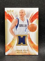 🔥2008-09 Hot Prospects Jason Kidd GU Jersey Patch Basketball Mavericks Nets HOF