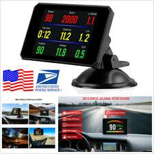 Car OBD2 HUD Head Up Display Speedometer Alarm Oil Water Temp Gauge Monitor -USA