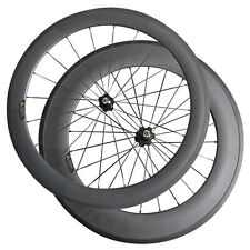 Front-60mm Rear- 88mm Clincher 23mm 700C Road Bike Carbon Wheels with A271SB Hub