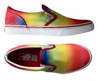 New Vans Classic Slip On Rainbow Glitter Pride Women's Sizes 7, 7.5, 8, 8.5, NIB