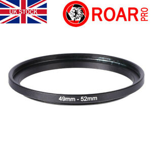 49-52mm Stepping Step-Up Ring Filter Adaptor 49mm to 52mm