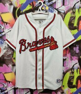 ATLANTA BRAVES MLB Baseball Shirt Jersey Top 80s 90s Majestic Vintage Mens XL