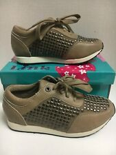 New Girls Kid's Taupe Studs Sneakers 13