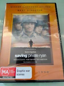 SAVING PRIVATE RYAN DVD R4 (NEW&SEALED) TOM HANKS, ED BURNS, MATT DAMON, DIESEL