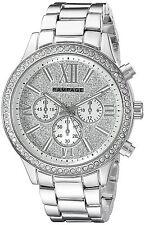 Rampage Women's Glitter Face Quartz Silver Tone Bracelet Watch RP1106SL