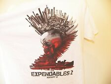THE EXPENDABLES 2 Movie T-Shirt XL White Stallone Chuck Norris Van Damme Jet Li
