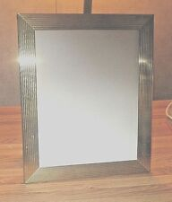 "Picture frame solid brass 12"" long x 8"" wide"