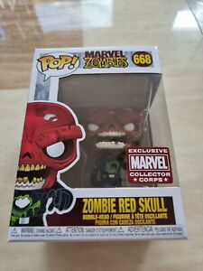 #668 ZOMBIES RED SKULL. MARVEL ZOMBIES. FUNKO POP! COLLECTOR CORPS EXCLUSIVE