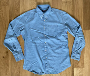 "Tom Ford Formal Blue Shirt 16.5"" 42cm Slim Tailored Fit Denim Cotton Rrp £325"