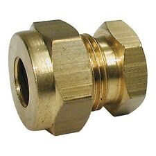 "Wade Brass 5/16"" Stop End Coupling Compression Fitting."