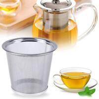Wiederverwendbare Netz Edelstahl Teesieb Teefilter Tee Dauerfilter Gewürzfilter