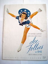 Stunning 1948 Ice Follies Twelfth Annual Edition Official Publication Program