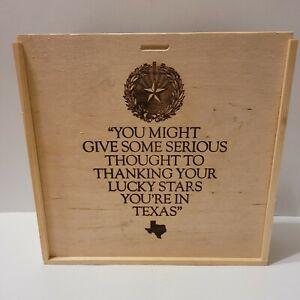 Made in TEXAS Star Wooden Gift Box Keepsake Storage Trinket Pie Hand Gun Storage