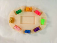 8 MEXICAN TRAIN ENGINE DOMINO-TICKET TO RIDE GAME MARKERS w/OVAL HUB