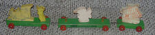 WALT DISNEY  STROMBECKER  MICKEY MOUSE CLUB TRAIN  WOODEN  VINTAGE C. 1950'S