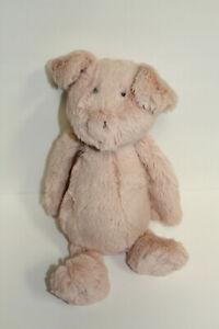 """Jellycat London Bashful Pink Pig Stuffed Plush 12"""" RARE"""
