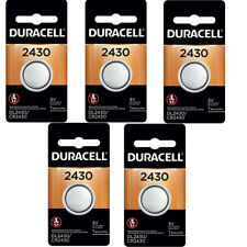 5 Pcs Duracell 2430 CR2430 DL2430 3V Lithium Coin Cell Battery