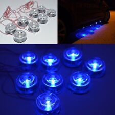 8 PCS LED BLUE CAR LIGHT UNDERBODY INTERIOR UNDER CAR AUTO DECORATION LAMP