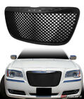 For 2011-2014 Chrysler 300/300C Black Luxury Mesh Front Bumper Grill Grille ABS  for sale