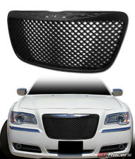 FOR 2011-2014 CHRYSLER 300/300C BLACK LUXURY MESH FRONT BUMPER GRILL GRILLE ABS