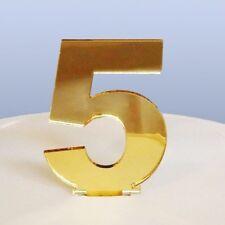 Contemporanea Numero 5 Topper per torta - Mirroring ORO