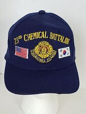 Army 23rd Chemical Battalion Blue Military Ball Cap Hat Embroidered Adjustable