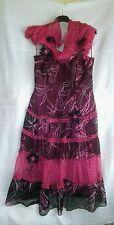 Emma Sommerset 100 %silk wine geometric mix dress/wrap 12