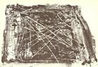 ANTONI TAPIES Untitled 210-18 15 x 22 Lithograph 1974 Expressionism Brown, White