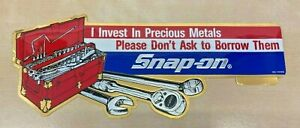 Snap-On Tool Box Metallic Gold Vintage Precious Metals Sticker 9.5in Wide
