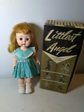 Vintage R&B littlest Angel doll with original box bent knee walker