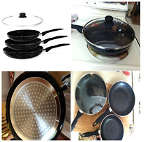 Cookware Frying Fry Pan Non Stick Set Skillet Induction 8 10 12 Inch With Lid