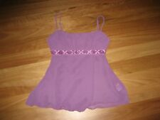 LADIES CUTE PURPLE SHEER POLYESTER SLEEVELESS TOP BY VALLEY GIRL SIZE 8 - CHEAP
