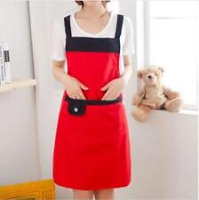 21 Color Korean Style lovely Women Kitchen Restaurant Bib Cooking Apron Pockets