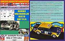 ANEXO DECAL 1/43 FIAT 131 ABARTH HANNU VALTAHARJU 1000 LAKES 1977 (01)