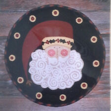 "Woolen Santa  - 17"" Round Wool Applique Penny Rug Kit - Waltzing with Bears"