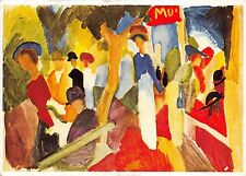 Bg1641 august macke magasin a la promenade painting Cpsm 14x9.5cm germany