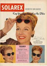 1948 Solarex PRINT AD Sun Glasses featuring Ann Sheridan
