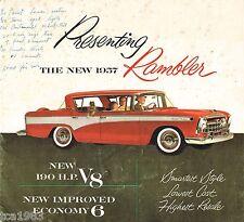 1957 RAMBLER Sales Brochure: DE LUXE, CUSTOM,.........