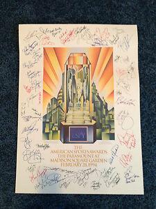 Super Rare 1994 ESPN ESPY Auto Lithograph  MLB NFL NBA NHL NBC CBS ABC MSG