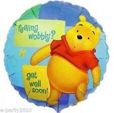 WINNIE THE POOH Get Well Soon FOIL MYLAR Balloon ~ Birthday Party Supplies