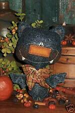 Patti's Ratties Primitive Black Bat Halloween Ornie Doll Paper Pattern #502